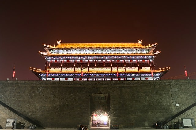 Bell Tower of Xi'an inChina