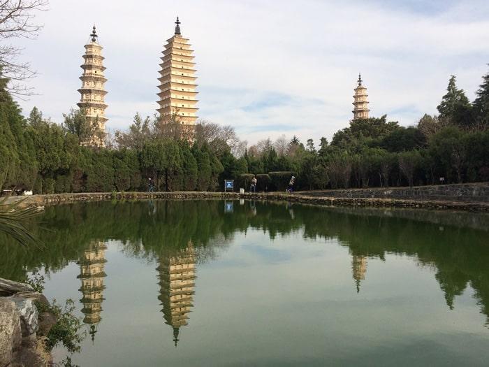 The Three Pagodas in Dali