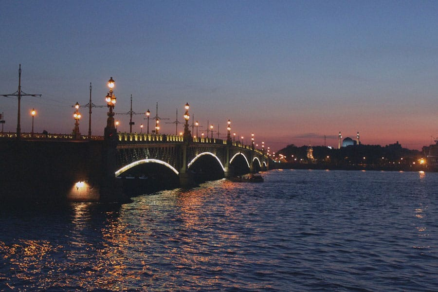 The Palace Bridge in Saint-Petersburg