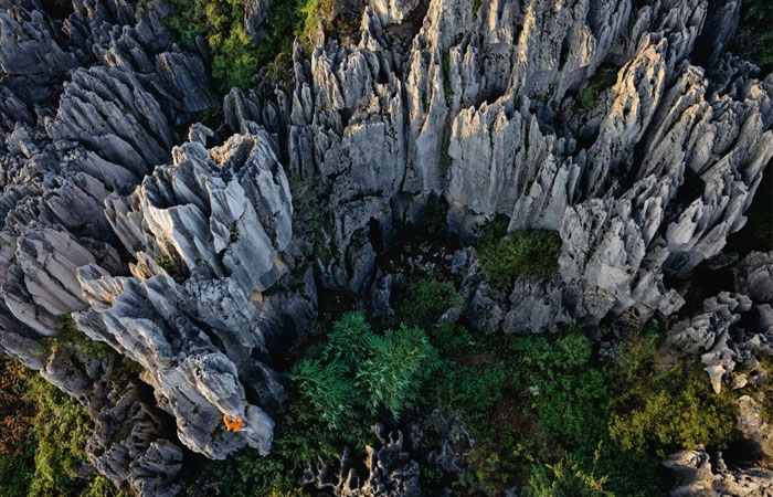 Stone Forest Park in Kunming of China