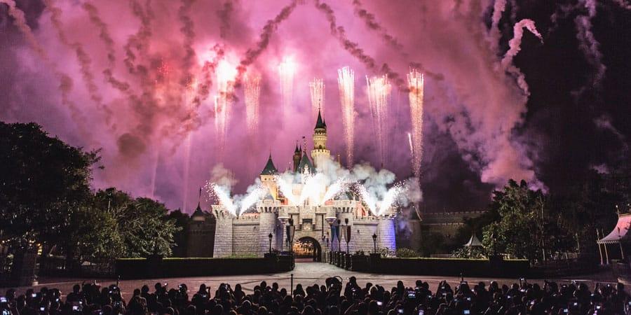 Hong Kong Disneyland at Night